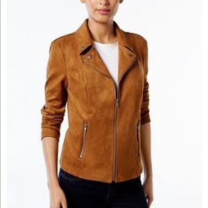 Faux-Suede Moto Jacket. New with Tags